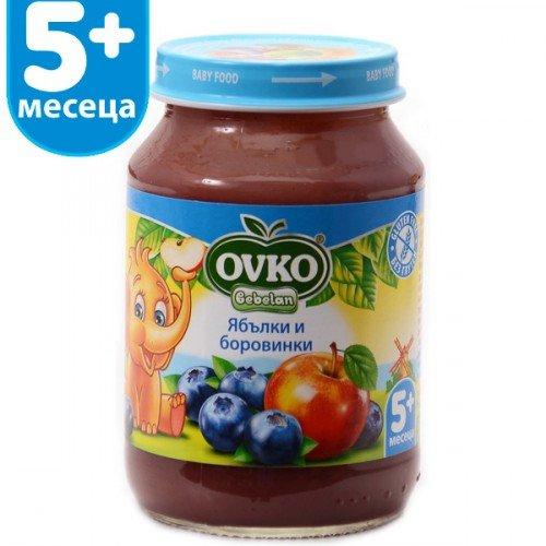 Овко Бебешко пюре /боровинки и ябълка + вит. С/ 5м+ 190 гр. 3822